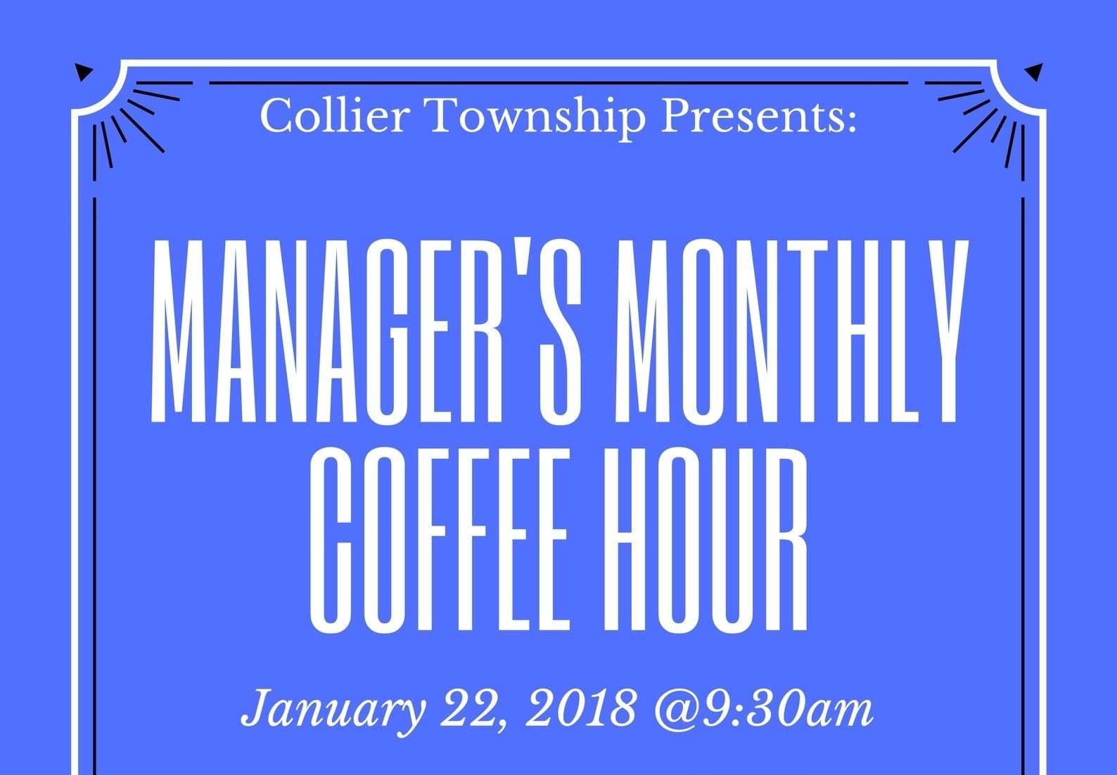 Managers Monthly Coffee Hour Jan1