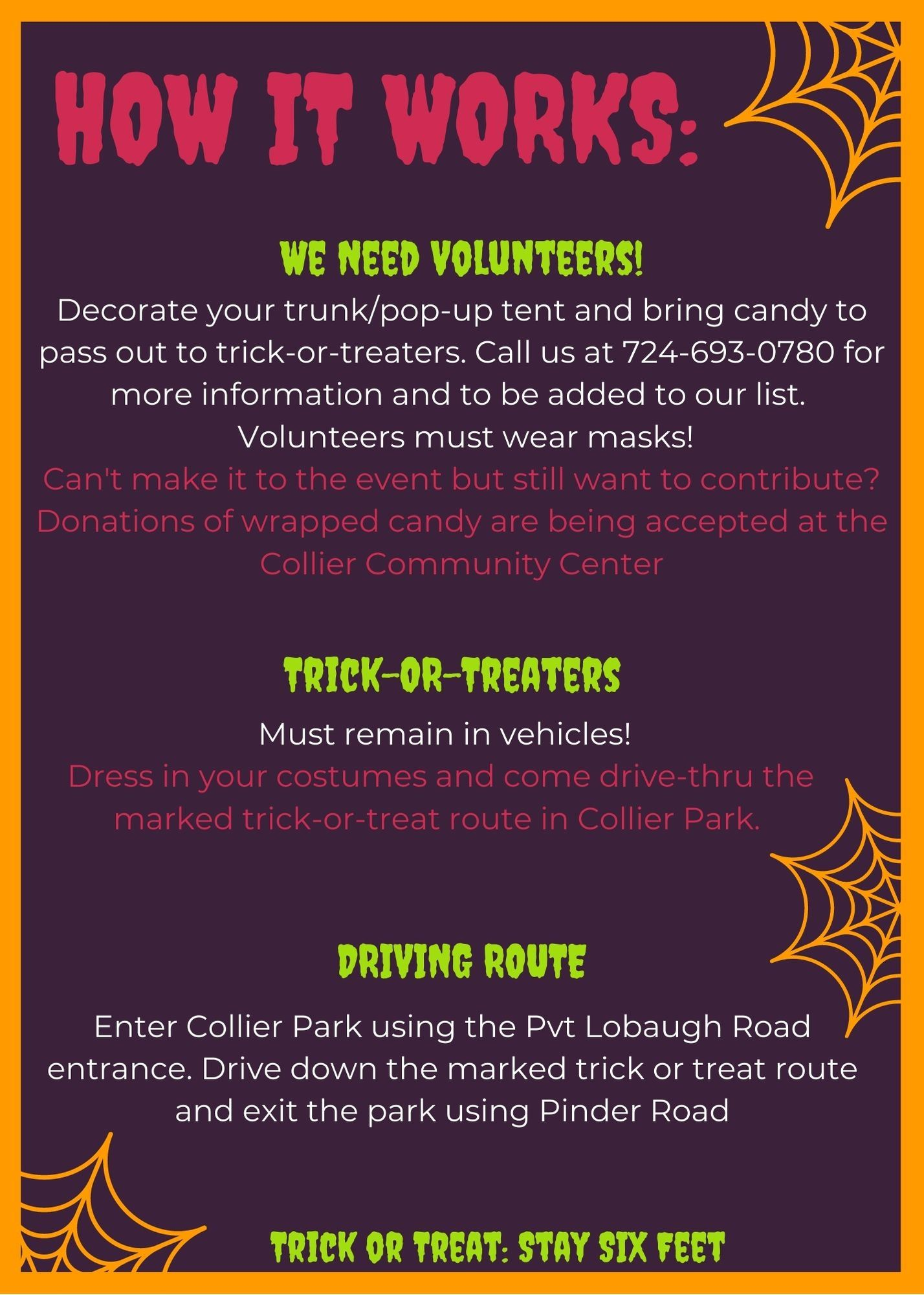 Trunk or Treat Details